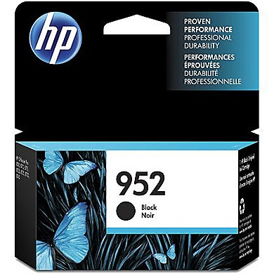 HP 952 Black Ink Cartridge - HP Genuine OEM (Black)
