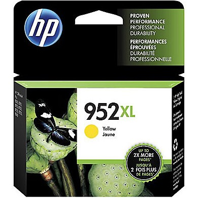 HP 952XL Yellow Ink Cartridge - HP Genuine OEM (Yellow)
