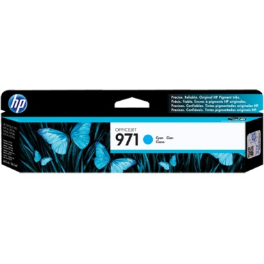 Genuine HP 971 Cyan Ink Cartridge