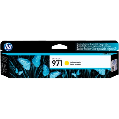 Genuine HP 971 Yellow Ink Cartridge