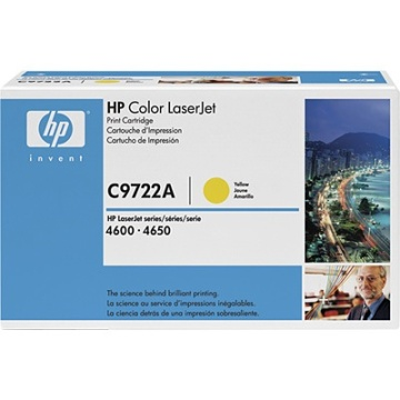 Genuine HP C9722A Yellow Toner Cartridge