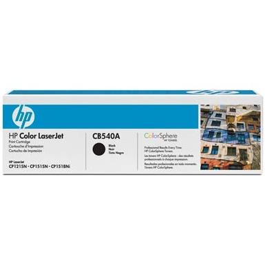 Genuine HP CB540A Black Toner Cartridge