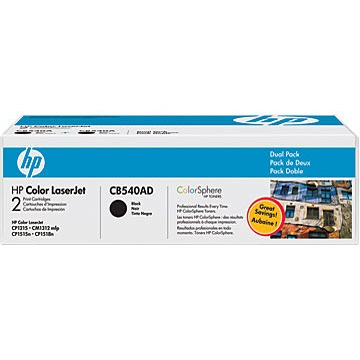 Genuine HP CB540AD Black Toner Cartridges