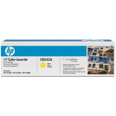 Genuine HP CB542A Yellow Toner Cartridge