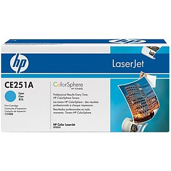CE251A Toner Cartridge - HP Genuine OEM (Cyan)