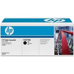 Genuine HP CE270A Black Toner Cartridge