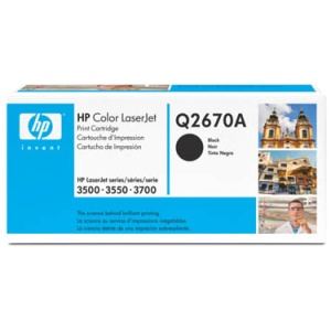 Genuine HP Q2670A Black Toner Cartridge