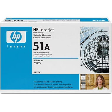 Genuine HP Q7551A Black Toner Cartridge