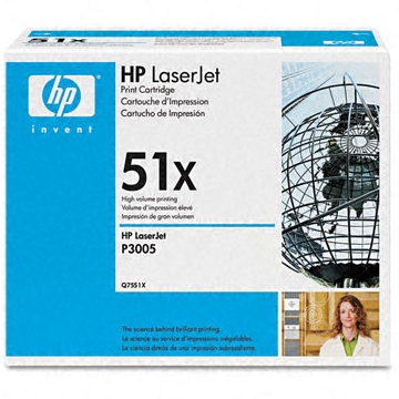 Genuine HP Q7551X Black Toner Cartridge
