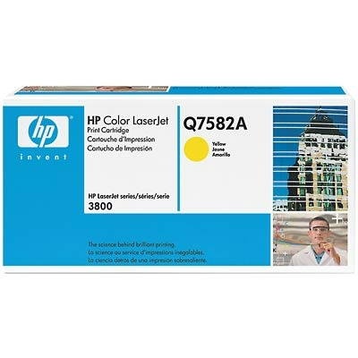 Q7582A Toner Cartridge - HP Genuine OEM (Yellow)