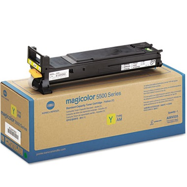 Genuine Konica-Minolta A06V233 Yellow Toner Cartridge