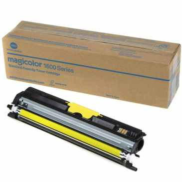 Genuine Konica-Minolta A0V305F Yellow Toner Cartridge