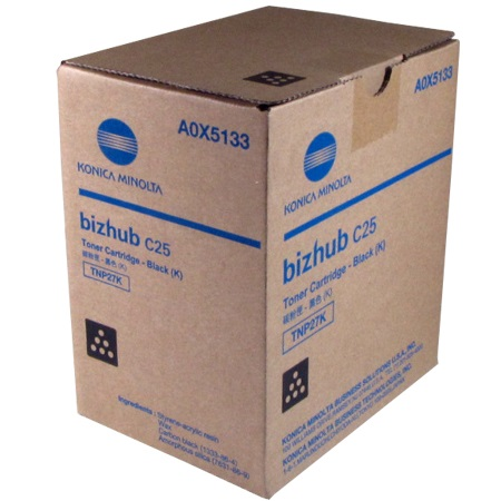 Genuine Konica-Minolta A0X5133 BLACK Toner Cartridge