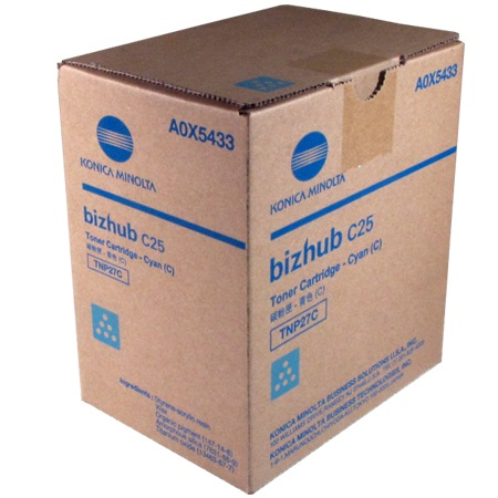 Genuine Konica-Minolta A0X5433 Cyan Toner Cartridge