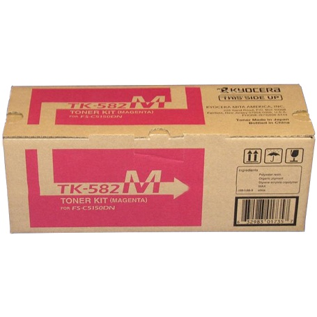 Genuine Kyocera Mita TK-582M Magenta Toner Cartridge