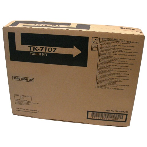 Genuine Kyocera Mita TK-7107 Black Toner Cartridge