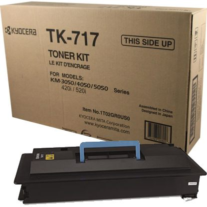 Genuine Kyocera Mita TK-717 Black Toner Cartridge