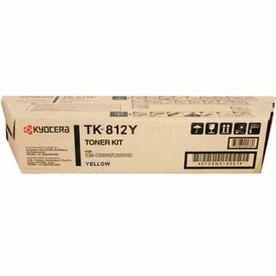 Genuine Kyocera Mita TK-812Y Yellow Toner Cartridge