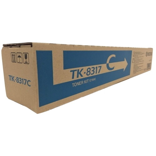 Genuine Kyocera Mita TK-8317C Cyan Toner Cartridge