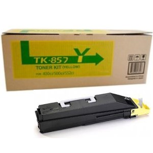 TK-857Y Toner Cartridge - Kyocera Mita Genuine OEM (Yellow)