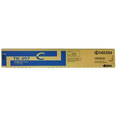 Genuine Kyocera Mita TK-897C Cyan Toner Cartridge
