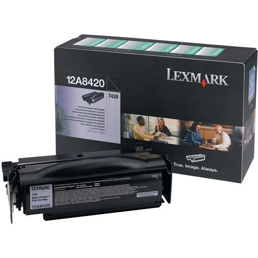 Genuine Lexmark 12A8420 Black Toner Cartridge