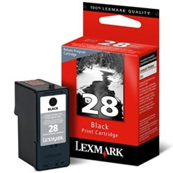 Lexmark #28 Ink Cartridge - Lexmark Genuine OEM (Black)