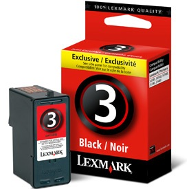 Genuine Lexmark #3 Black Ink Cartridge