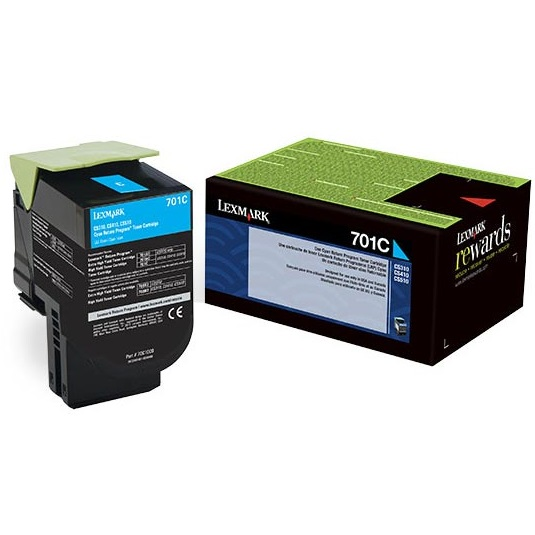70C10C0 Toner Cartridge - Lexmark Genuine OEM (Cyan)