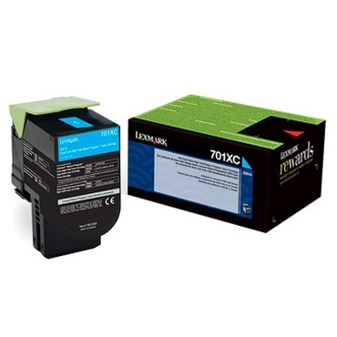 70C1XC0 Toner Cartridge - Lexmark Genuine OEM (Cyan)
