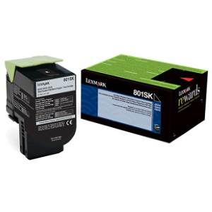 80C1SK0 Toner Cartridge - Lexmark Genuine OEM (Black)