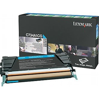 C734A1CG Toner Cartridge - Lexmark Genuine OEM (Cyan)