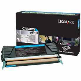 C746A1CG Toner Cartridge - Lexmark Genuine OEM (Cyan)