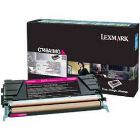 Genuine Lexmark C746A1MG Magenta Toner Cartridge