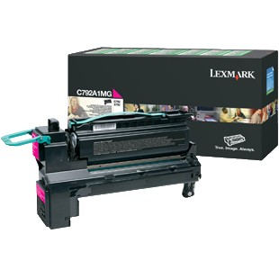 C792A1MG Toner Cartridge - Lexmark Genuine OEM (Magenta)