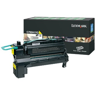 C792A1YG Toner Cartridge - Lexmark Genuine OEM (Yellow)