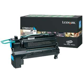 C792X1CG Toner Cartridge - Lexmark Genuine OEM (Cyan)