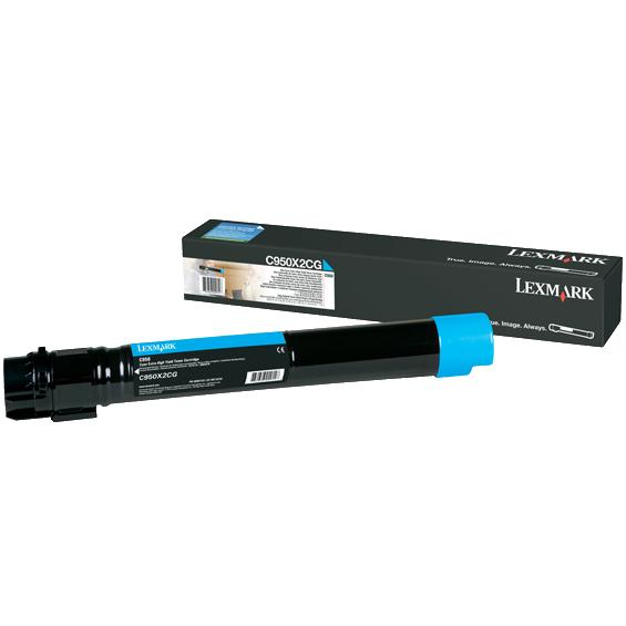 Genuine Lexmark C950X2CG Cyan Toner Cartridge