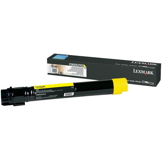Genuine Lexmark C950X2YG Yellow Toner Cartridge