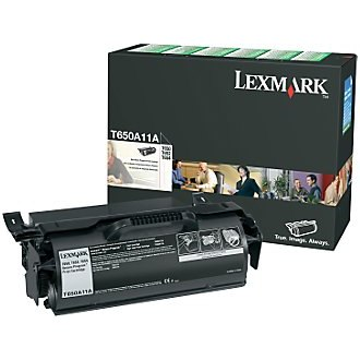 T650A11A Toner Cartridge - Lexmark Genuine OEM (Black)