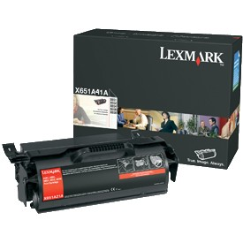 X651A11A Toner Cartridge - Lexmark Genuine OEM (Black)