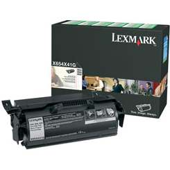 Genuine Lexmark X654X41G Black Toner Cartridge