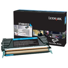 X748H1CG Toner Cartridge - Lexmark Genuine OEM (Cyan)