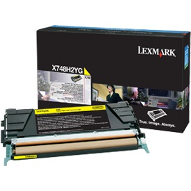 X748H1YG Toner Cartridge - Lexmark Genuine OEM (Yellow)