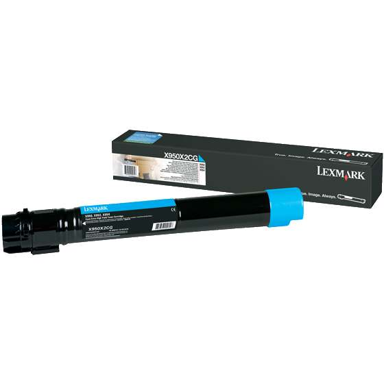 Genuine Lexmark X950X2CG Cyan Toner Cartridge