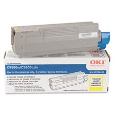 Genuine Okidata 43324401 Yellow Toner Cartridge