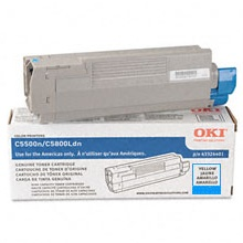 Genuine Okidata 43324403 Cyan Toner Cartridge