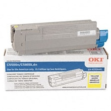 Genuine Okidata 43381901 Yellow Toner Cartridge