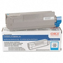Genuine Okidata 43381903 Cyan Toner Cartridge