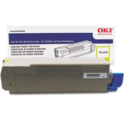 Genuine Okidata 43837125 Yellow Toner Cartridge